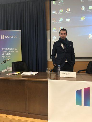 Víctor Arrimada en la presentación