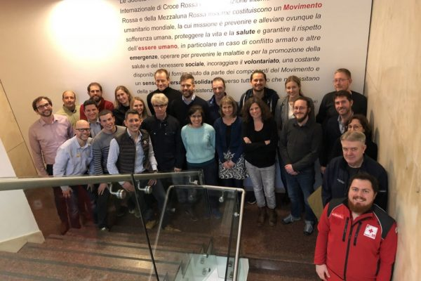 Foto grupal del consorcio HEIMDALL en las instalaciones de la Cruz Roja en Milán