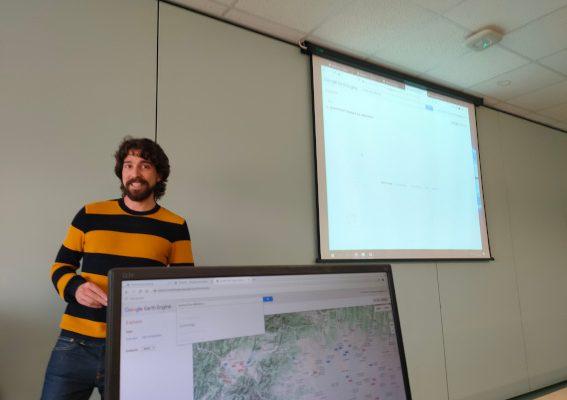 Miguel Ángel Navarrete durante la presentación